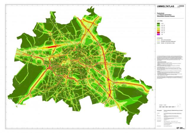 Lärmkarte Berlin 2013