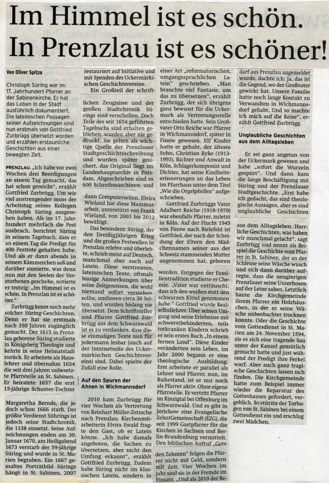 Prenzlauer Zeitung 04.09.2013