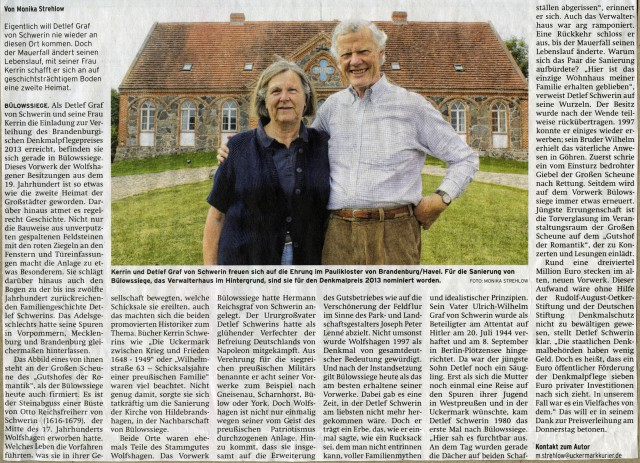Prenzlauer Zeitung 03.09.2013