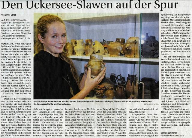 Prenzlauer Zeitung 12.11.2013