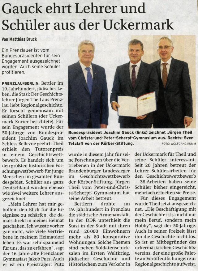 Prenzlauer Zeitung 14.11.2013