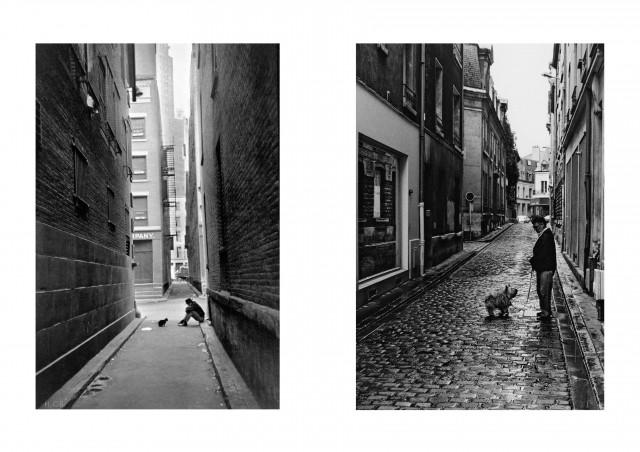 Foto links: Henri Cartier-Bresson, Foto rechts: J. Jabs
