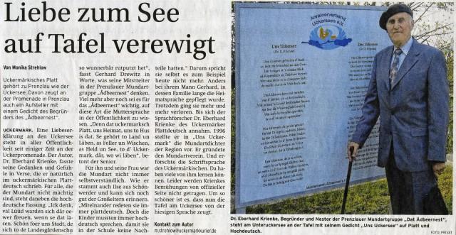 Prenzlauer Zeitung 26./27.10.2013