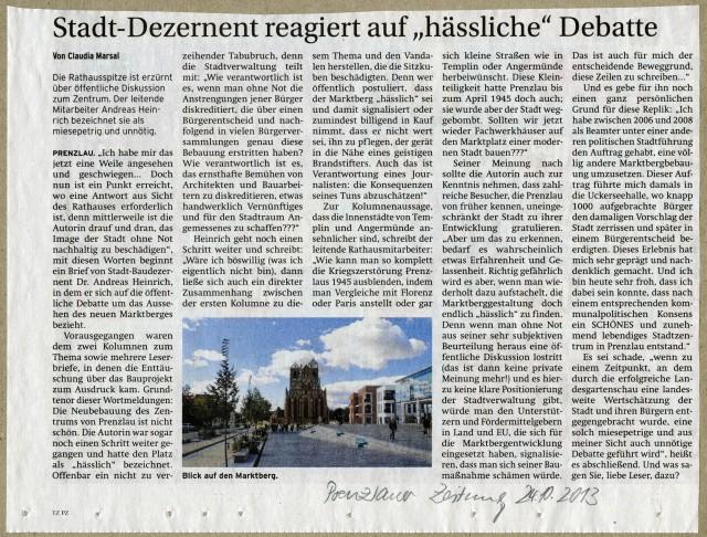 Prenzlauer Zeitung 24.10.2013