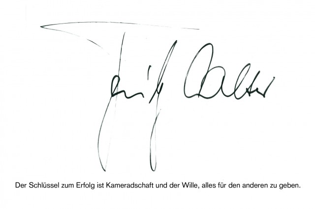 Autogramm, Zitat: Fritz Walter