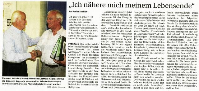 Prenzlauer Zeitung 14./15.06.2014