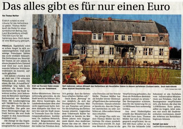Prenzlauer Zeitung 25.06.2014