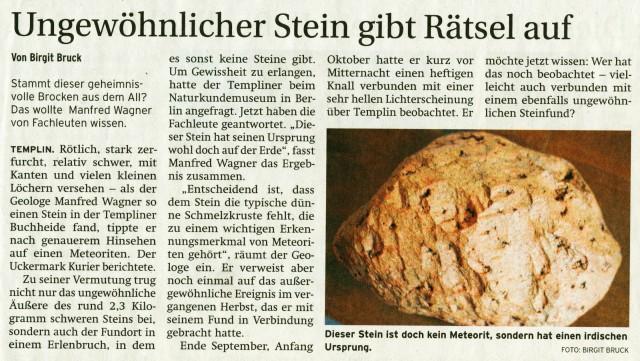 Prenzlauer Zeitung 10./11.05.2014