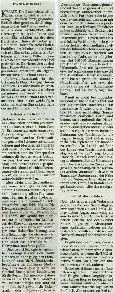 Berliner Zeitung 30.09.2014