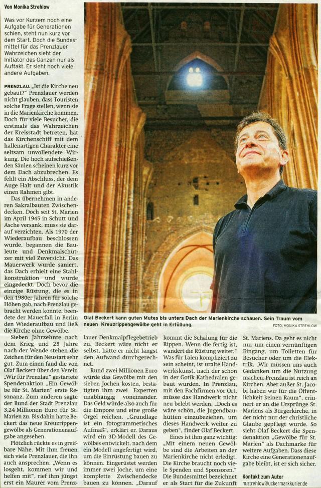 Prenzlauer Zeitung 01.08.2014