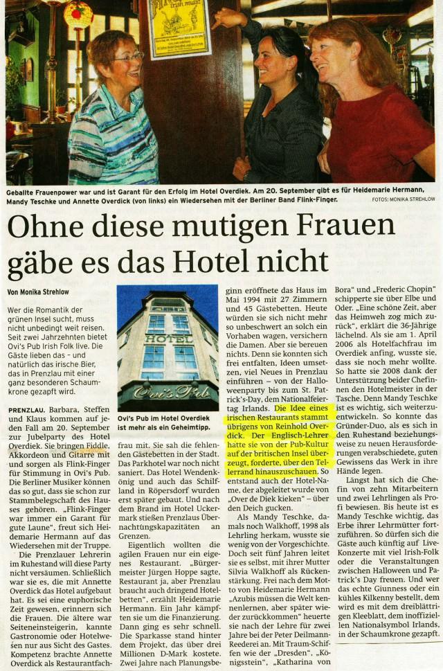 Prenzlauer Zeitung 20./21.09.2014