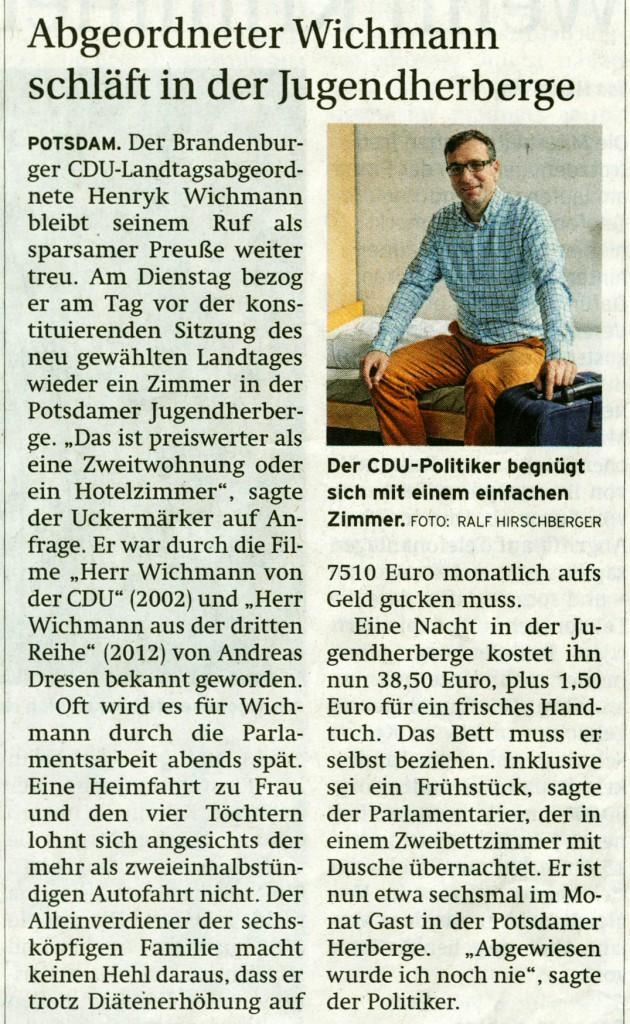 Prenzlauer Zeitung 08.10.2014