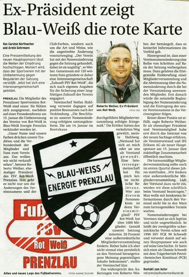 Prenzlauer Zeitung 23.01.2015