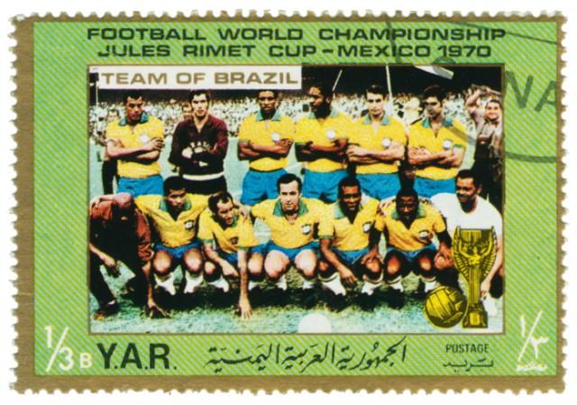 Briefmarke-Weltmeister-1970-Brasilien