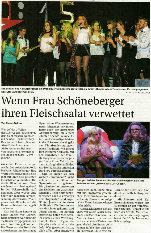 Prenzlauer Zeitung 02.03.2015