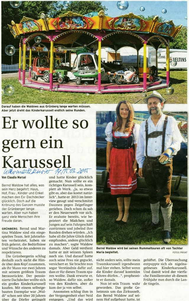 Uckermarkkurier 14./15.03.2015