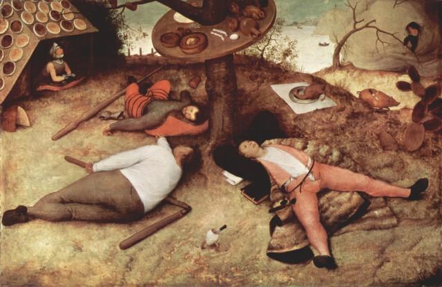 """Pieter Bruegel d. Ä. """"Schlaraffenland"""""""