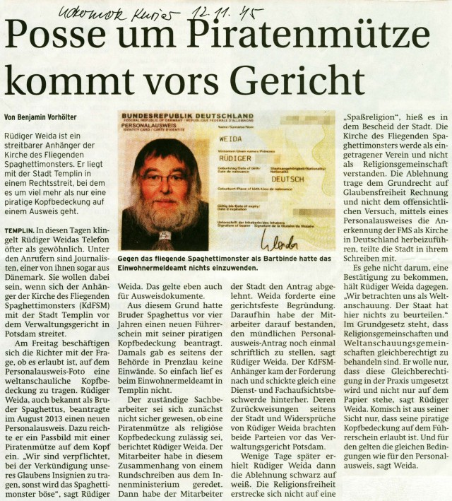 Prenzlauer Zeitung 12.11.2015
