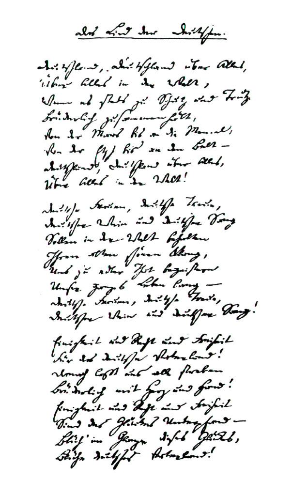 Originaltext Hoffmann von Fallersleben