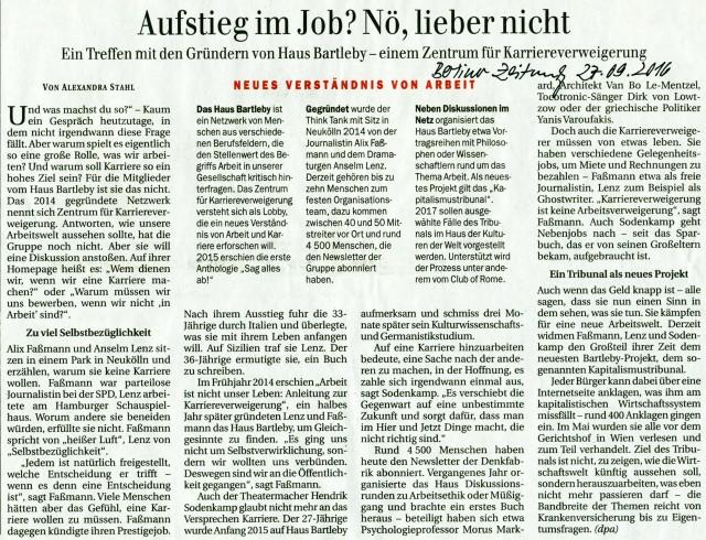 Berliner Zentrum für Karriereverweigerung