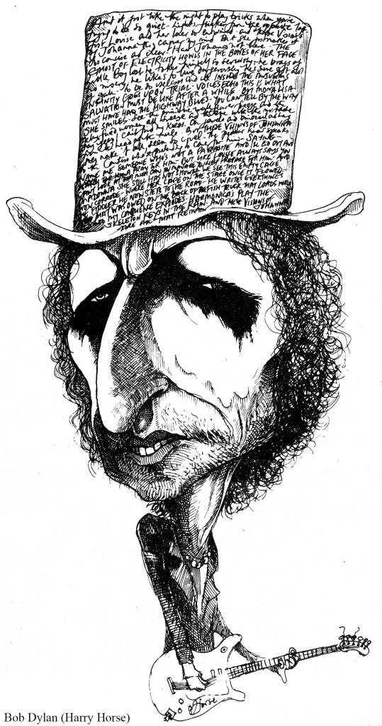 Bob Dylan Karrikatur
