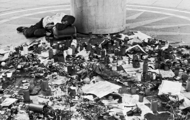Foto: Jabs (Todestag Michael Jackson, Weltzeituhr Alexanderplatz Berlin)