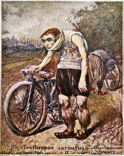 B.Seligmann: Der gekrümmte Radaffenmensch (Bicyclanthropos curvatus)