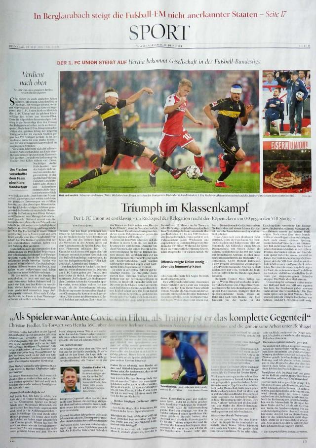 Bild 1: Tagesspiegel (28.05.2019), Bild 2-5: Berliner Zeitung (28.05.2019)